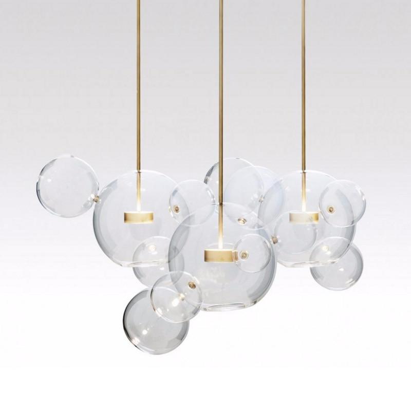 Moderne Bolle Lampe A Mené La Lumière Pendante En Verre Globe Lampe Suspendue Led Luminaires Éclairage Intérieur Lustre luminaria Suspension Lampe