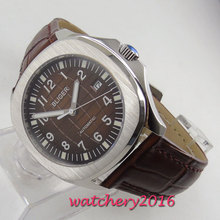 39mm Bliger Brown dial Date Sapphire Automatic Movement mens Watch