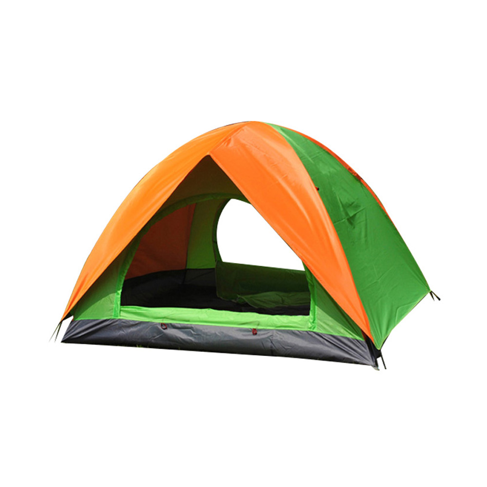 Outdoor Hiking Tent 1-2 Person Double-door Double Deck Caulking Beach Tent high quality outdoor 2 person camping tent double layer aluminum rod ultralight tent with snow skirt oneroad windsnow 2 plus