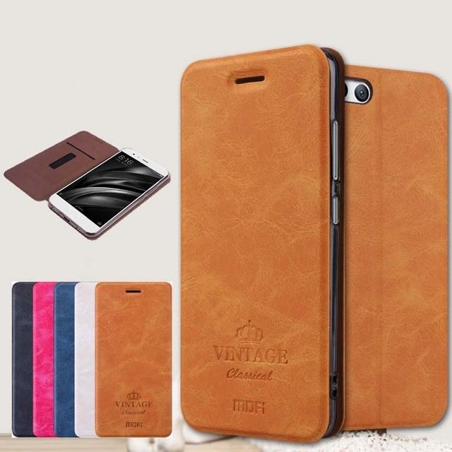 """Mofi For Xiaomi Mi 6 M6 Mi6 Case Luxury Flip Leather Stand Case For Xiaomi Mi 6 M6 Mi6 5.15"""" Cover Book Style Cell Phone Cover"""