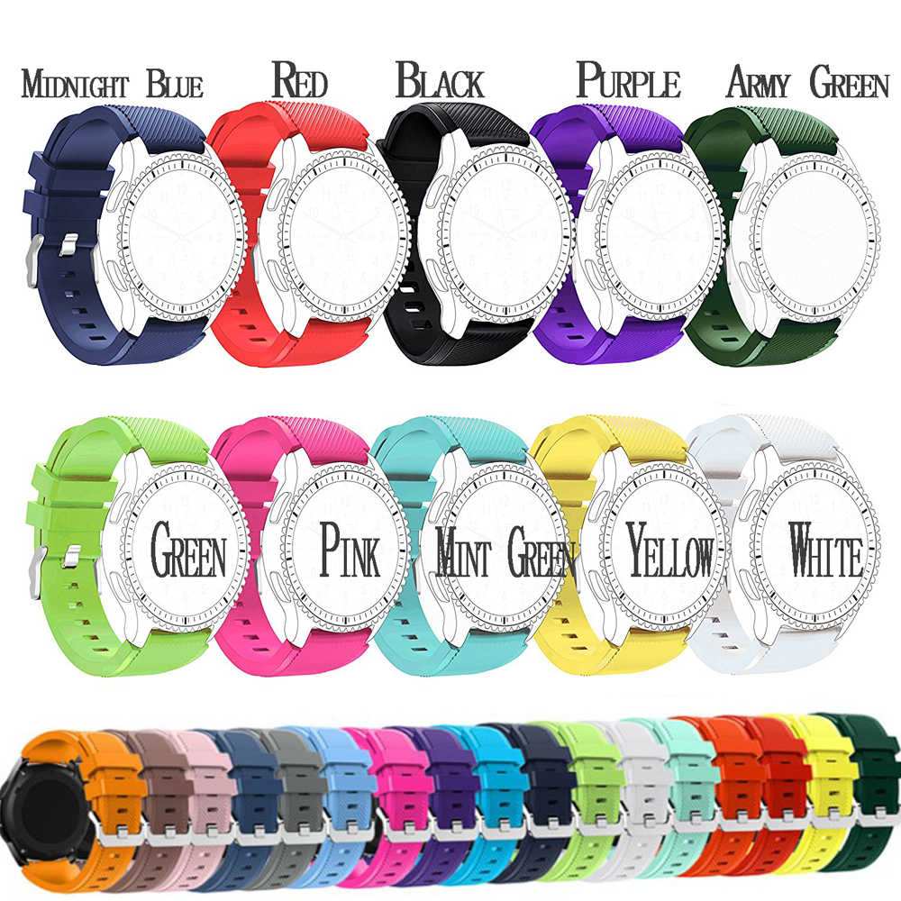 Silicone Band Wrist Strap 22mm For Samsung Galaxy Watch Classic Smart Watch 46MM silicone rubber watchbands strap gear s3 band silicone sport watchband for gear s3 classic frontier 22mm strap for samsung galaxy watch 46mm band replacement strap bracelet