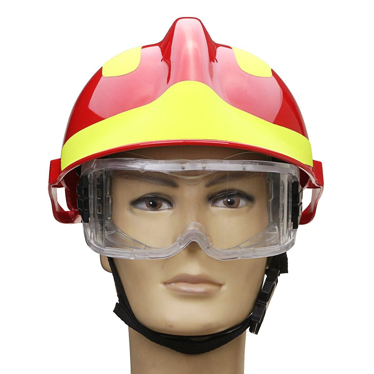 Nueva seguro casco rescate bomberos protectora Gafas Seguridad protector lugar Seguridad Protección contra incendios 53 cm-63 cm