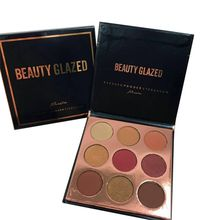 9 Colors Beauty Glazed Luminous Eyeshadow Palette Matte Diamond Glitter Foiled Eye Shadow in One Blush Makeup Sets
