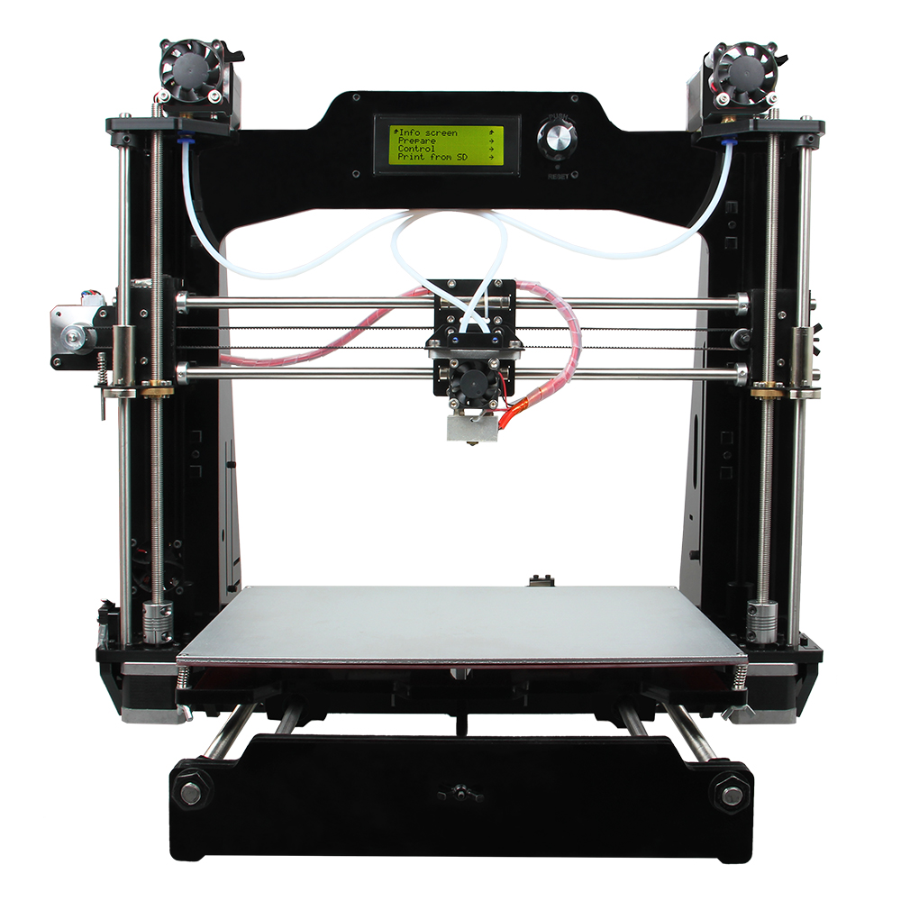 Latest Prusa I3 3D Printer DIY KIT 6-I3 M201 2-in-1-out Version + LCD 2004 280x210x200mm Printing Volume