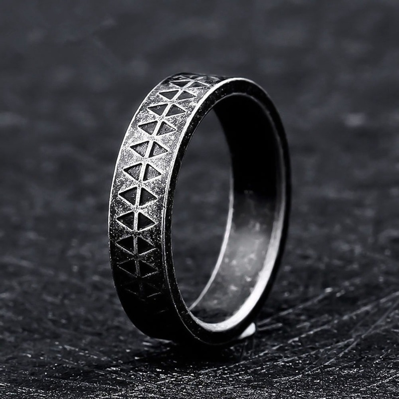 2019 Cool Black Ring for Men Women Stainless Steel Punk Male tatoo Metal Rings Jewelry