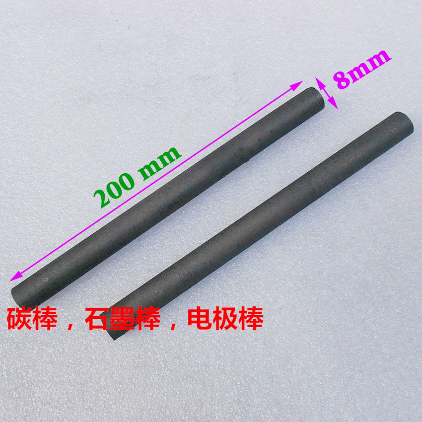 10pcs Carbon rod 8mm x 200mm Electrode graphite rod Graphite Electrodes Crucible stirring rod Graphite rod for spot welding nokia 200 asha graphite
