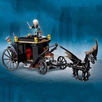Харри Поттер серии Grindelwald Escape строительные блоки 148 шт. конструктор развивающий Игрушки совместимы с Legoing фильм