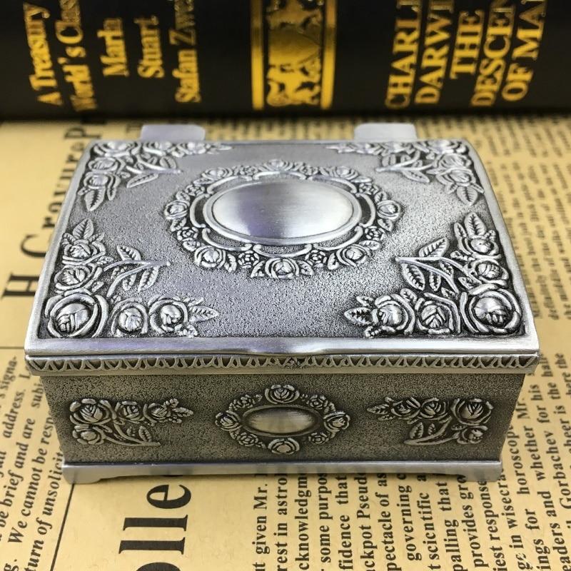 1 PC jewelry treasure chest makeup Organizer box Jewelry Treasure Chest Case Desktop ornaments Travel Suitcase
