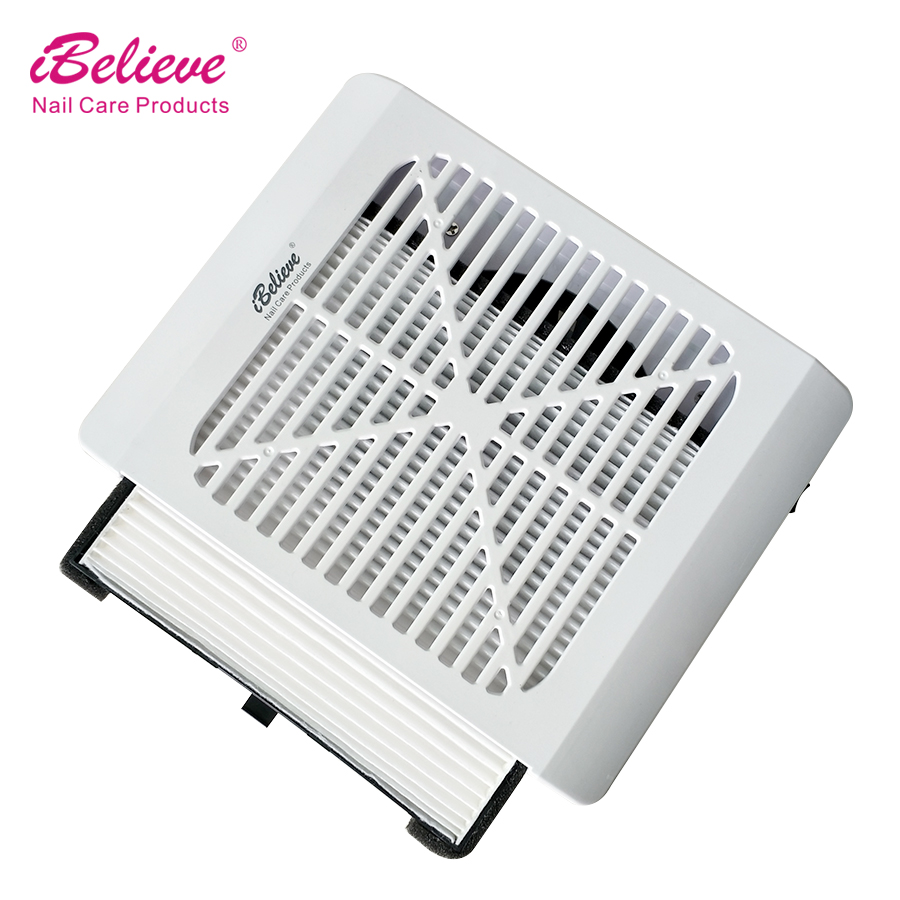 iBelieve 36W New Strong Power Nail Dust Collector Nail Fan Art Salon Suction Dust Collector Machine