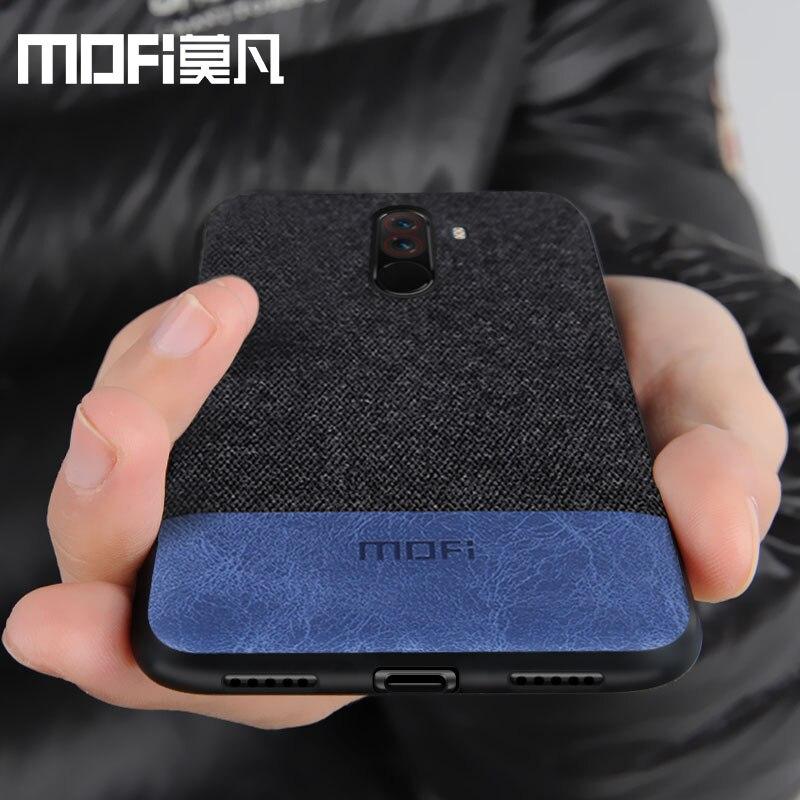 Xiaomi POCOPHONE F1 cubierta mundial POCO F1 contraportada silicona tela protectora caja del teléfono MOFi original POCOPONE F1 caso