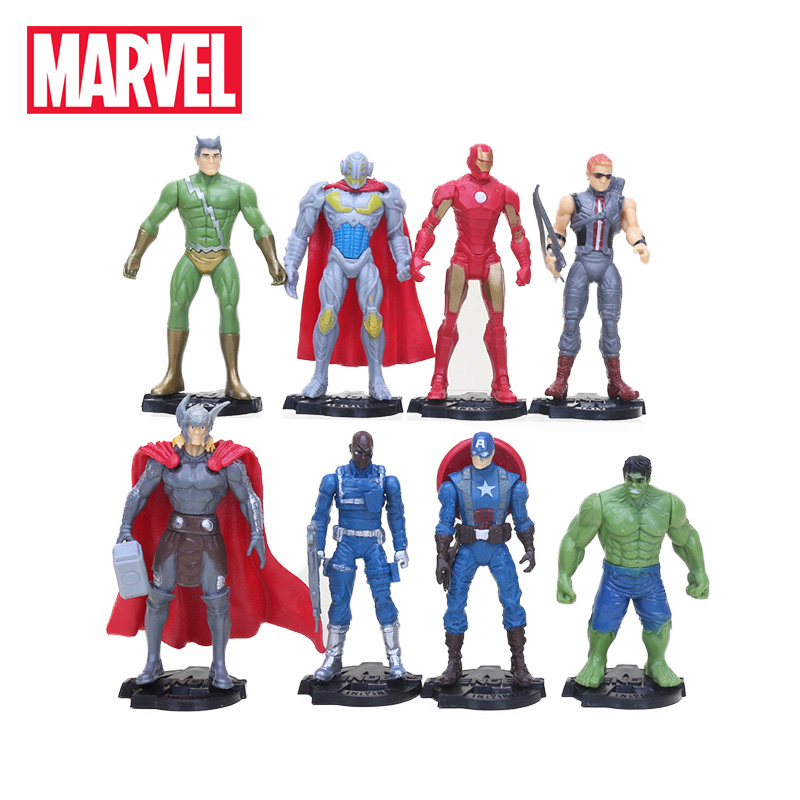 8pcs Marvel Toys The Avengers 3 Infinite War Figure Set Antman Captain America Black Panther Iron Man Collectible Model Doll Toy