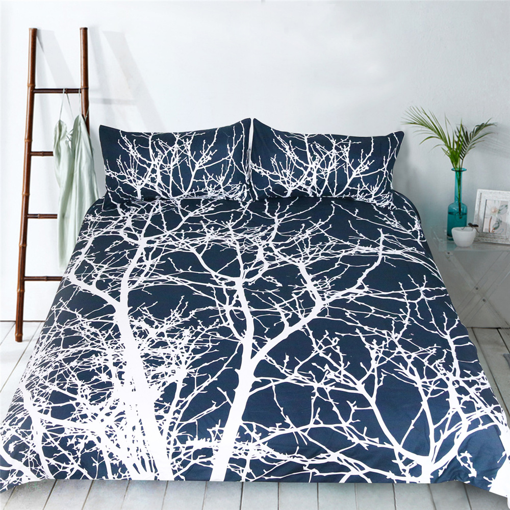 Illucity trees duvet cover set king queen full double twin singleIllucity trees duvet cover set king queen full double twin single