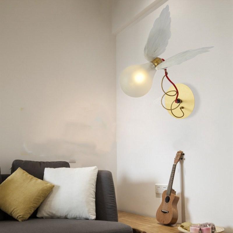 все цены на Modern Art Deco Creative Fashion Concise Angel Wall Lamp Cafe Bar Restaurant Bedroom Parlor Study Decoration Lamp Free Shipping