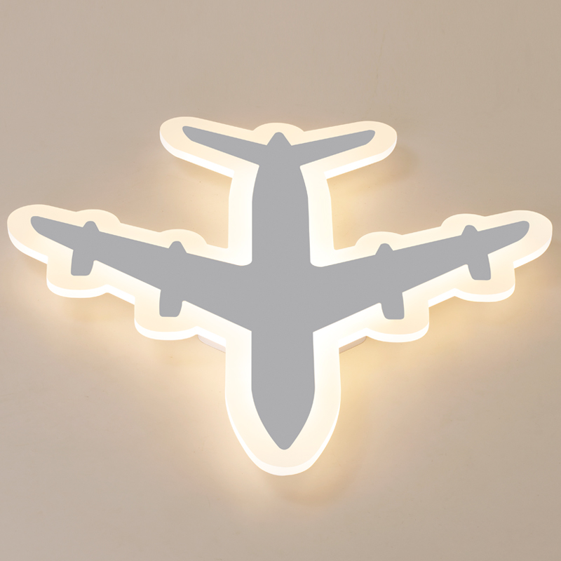 Image 5 - DIY Acrylic Airplane LED Ceiling Light  Modern Kids Bedroom Ceiling lamp  decorative home indoor lighting-in Ceiling Lights from Lights & Lighting