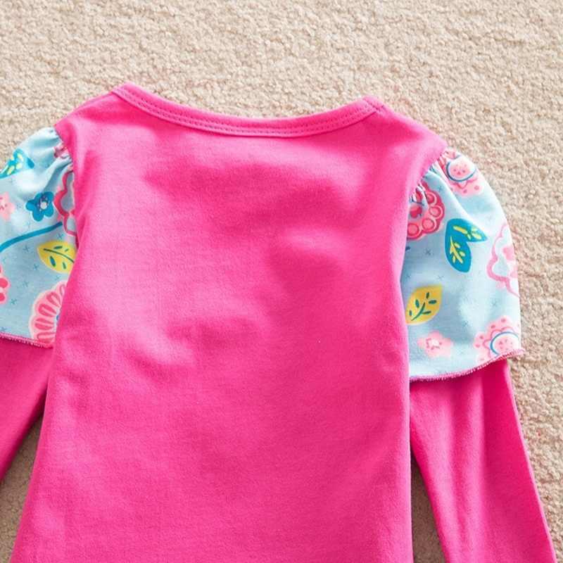VIKITA платья для девочек; осенние детские хлопковые платья трапециевидной формы с круглым вырезом; детская одежда с бабочками и цветами; платье в стиле пэчворк для девочек; L191