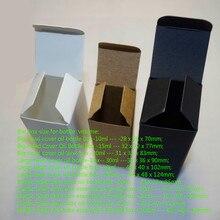 100 шт/партия крафт-бумажные упаковочные коробки для 10 мл 15 мл 20 мл бутылочки для масла с дозатором DIY плоская губная помада парфюмерные трубки