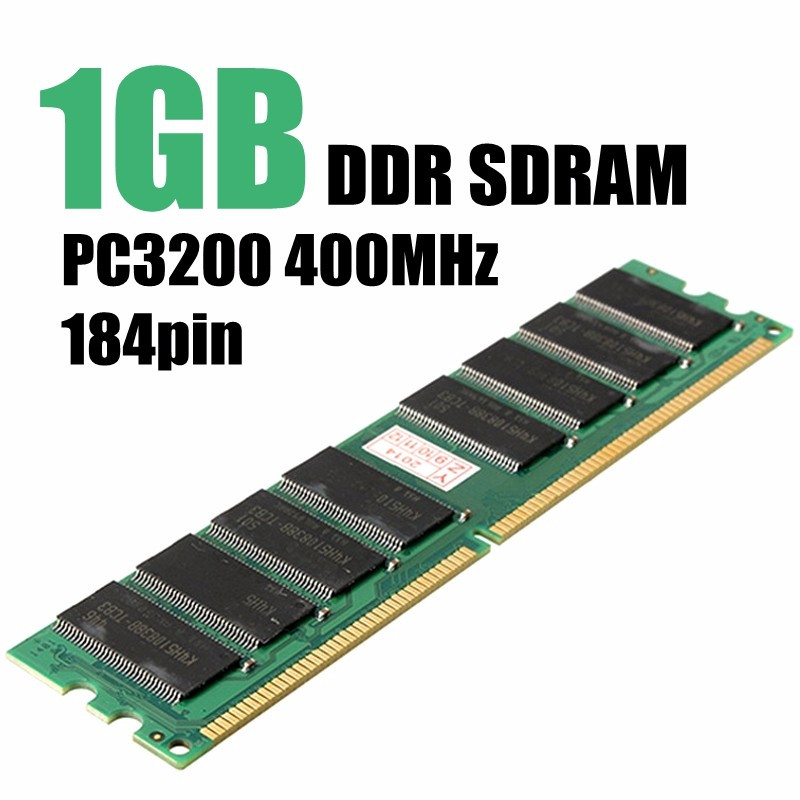 1GB PC3200 DDR 400 MHZ SDRAM Non-ECC 184Pin DIMM PC Desktop Computer Memory