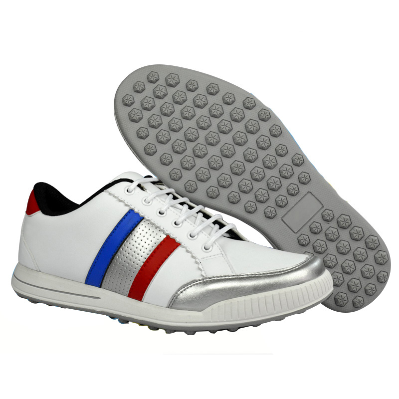 New 2016   golf shoes the first layer of leather shoes sports Leisure waterproof breathable eight-nail massage 17 years the new season the first layer of leather shoes shoes men lazy casual leather shoes shoes retro matte doug