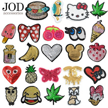 Sequin patch on clothes sticker iron embroidery patches for clothing applique sew badge sequined