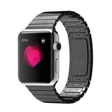 Новый 1:1 Ссылка Браслет Из Нержавеющей Стали Ремешки Для Наручных Часов Ремешок для Apple Watch 38/42 мм