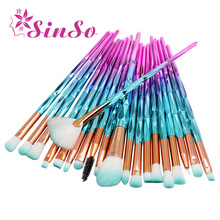 SinSo 4-20Pcs Unicorn Makeup Brushes Tools Set Powder Foundation Blush Kabuki Eye Shadow Lip Brush Kit Cosmetic Make Up Brushes
