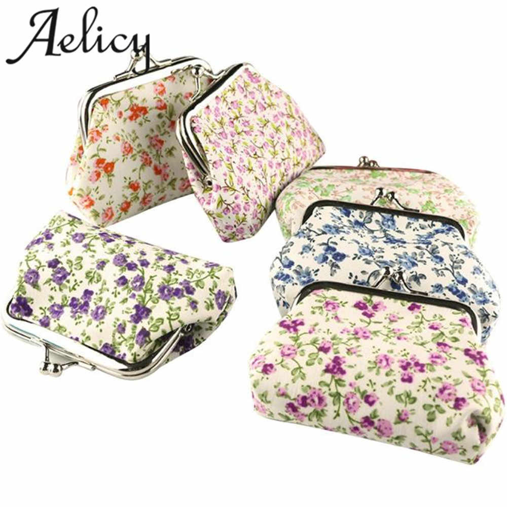 Aelicy Tassen Voor Vrouwen 2018 Hot Lady Retro Vintage Bloem Kleine Portemonnee Hasp Purse Clutch Bag Fashion Cool Wallet