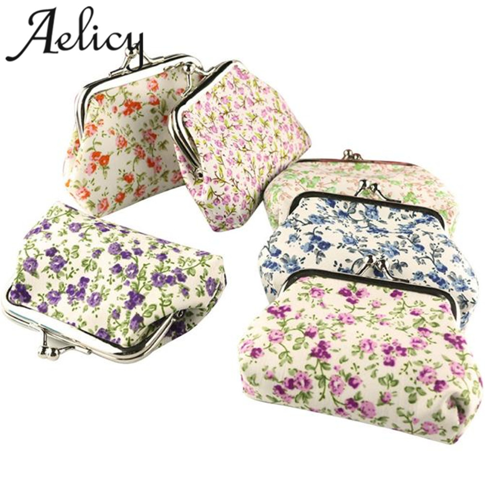 Aelicy bags for women 2018 Hot Lady Retro Vintage Flower Small Wallet Hasp Purse Clutch Bag Fashion Cool Wallet