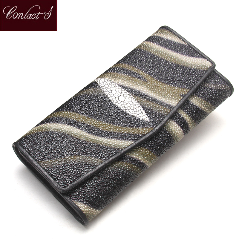 где купить Contact's Fashion Genuine Cow Leather Women Wallet Long Phone Coin Purse Wallet Female Card Holder Lady Clutch Carteira Feminina по лучшей цене