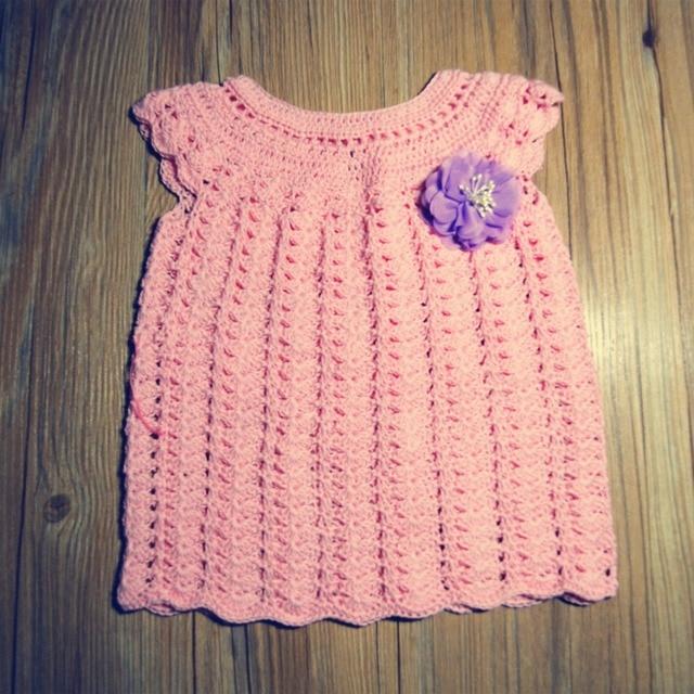 1789b119c7fa QYFLYXUE-Baby girl dress Crochet Newborn baby Dress for Photo Prop Girls  Summer Dress, Sundress.