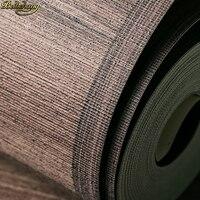 beibehang Modern Vintage 3D Flooring Wallpaper Wood Stripes Club Study Bedroom Solid Mural Wall paper Brown Beige Wall Covering