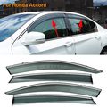 Car Stylingg Awnings Shelters 4pcs/lot Window Visors For Honda Accord 2008-2016 Sun Rain Shield Stickers Covers