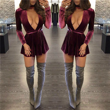 Femmes Sexy Soild Moulante Bandage Dress Vert Rouge Vestidos Mujer Femme Robe Sexy Night Club Mini Robes En Gros Nouvelle Mode
