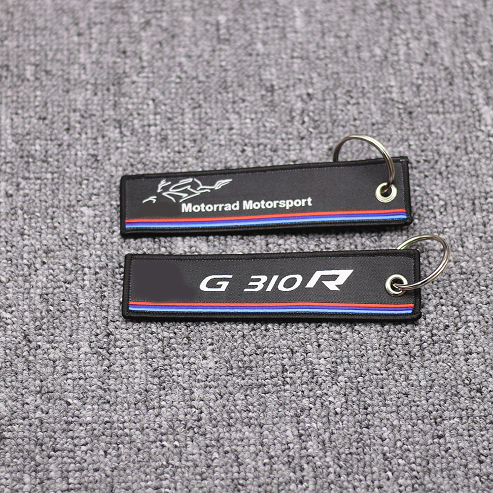 New Arrival Embroidery Key Holder Chain Collection Keychain for <font><b>BMW</b></font> G310R <font><b>G</b></font> <font><b>310R</b></font> G310 R Motorcycle Badge Keyring image