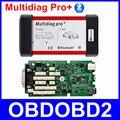 Высокое Качество Multidiag Pro + Bluetooth Диагностический Сканер Один Зеленый Доска 2014 R2 R3 TCS CDP Инструмент Для Автомобилей Грузовик + 4 ГБ TF Карты