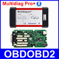 High Quality Multidiag Pro+ Bluetooth Diagnostic Scanner Single Green Board 2014 R2 R3 TCS CDP Tool For Car Truck +4GB TF Card