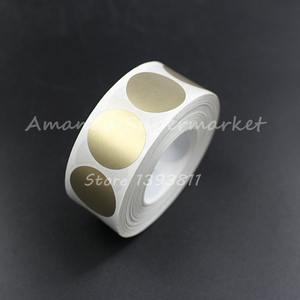 """Image 3 - High Quality Scratch Off Sticker 1000Pcs 25*25mm 1"""" Round Gold Color Blank For Secret Code Cover Home Game Wedding"""