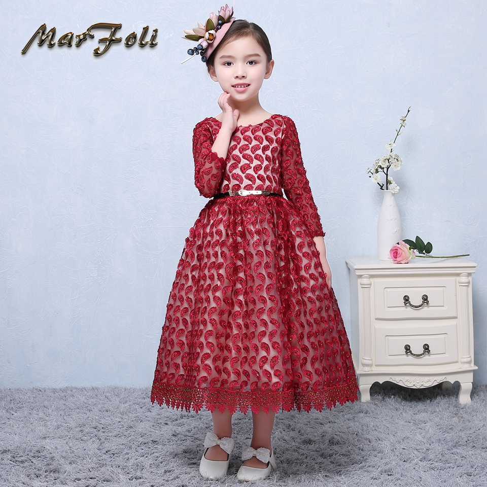 Real Photos little flower girls dresses for weddings Baby Party ...