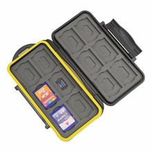 Wholesale Price Professional Waterproof Plastic Camera Card Case for 12 SD and 12 MSD