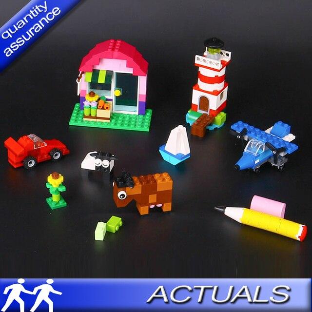 US $13 5 |Compatible with Lego 10692 Lepin 42003 Creative Bricks Bulk  Building Blocks Classic Set Model Bricks Car Plane Toy Birthday Gift-in  Blocks