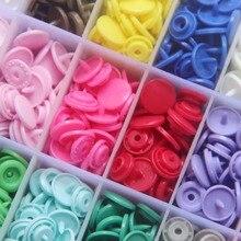 50 наборов KAM защелки, Размер 20 T5 пластмассовый крепеж пробойник застежки нет-пришить кнопки для ткани пеленки/нагрудники/Unpaper полотенца
