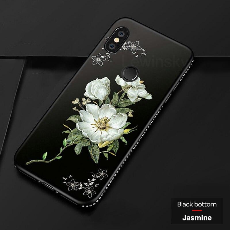 3D Relief Flower TPU Case For Xiaomi Redmi Note 4 4X 5 6 Pro 5A Prime 5 Plus S2 6A Mi 8 6 Pocophone F1 MAX 2 3 A1 A2 Lite 6A 5X