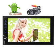 Backup Camera Include Android 7.1 GPS Car Stereo Auto Radio Touchscreen Head Unit Support Wifi USB/SD Bluetooth None-DVD Player
