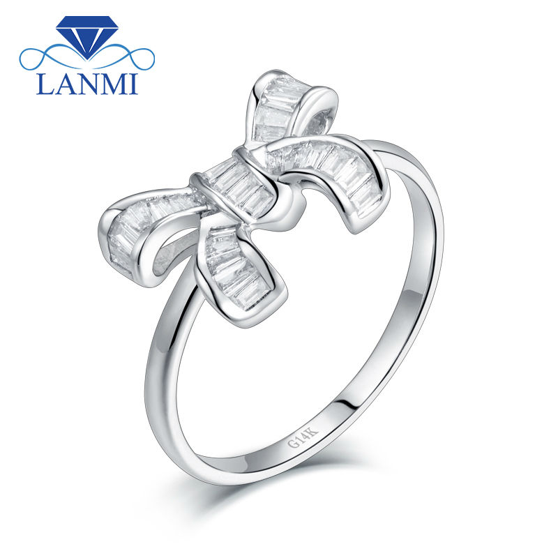 New Arrival Solid 14Kt/AU585 White Gold Baguette SI Clarify Diamond Wedding Ring for Women Promised Jewelry Lovely Design New Arrival Solid 14Kt/AU585 White Gold Baguette SI Clarify Diamond Wedding Ring for Women Promised Jewelry Lovely Design
