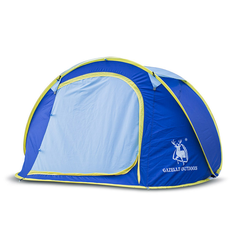 Automatic quick opening throw tent outdoor tents throwing waterproof camping hiking tent family tents portable 3-4 person yingtouman outdoor 3 5 person big family tent camping hiking tent camping accessories quick automatic opening