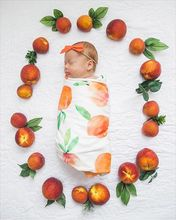 2018 Hot Sale Nyfödd Swaddle och Headband Sets Lovely Baby Månader Täcken Arrow Fruit Blommig Baby Swaddles Bomull Baby Täcken