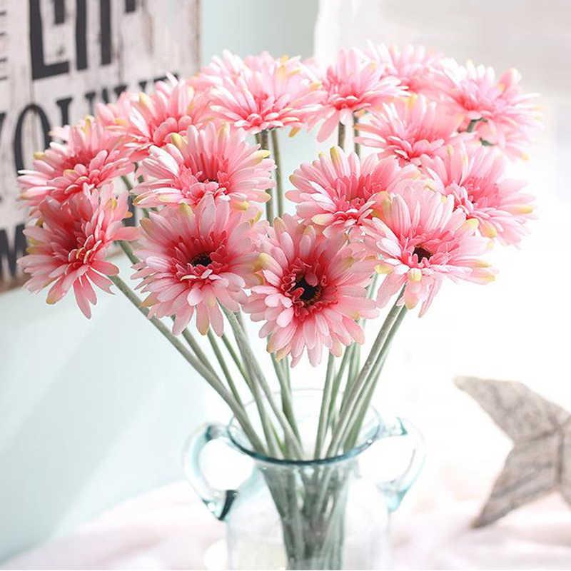 1 Ud Flores De Seda Gerbera Girasol Margarita Africana Flores Artificiales Arreglo Floral Alta Simulación Habitación Adorno