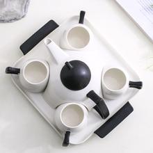 Top-grade cup coffee set home ceramic teapot bone china tea cup set Water cup flower teacup coffee teapot set Afternoon tea part