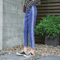 Fashion Women Casual Slim Stretch Denim Jeans Leggings Jeggings Pencil Pants Thin Skinny Leggings Jeans Personality feels broken