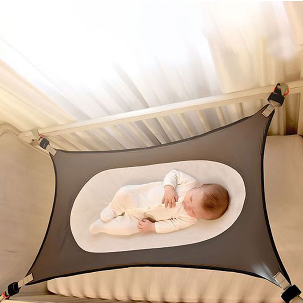Portable Baby Elastic Hammock Baby Adjustable Mesh Bed Newborn Baby Sleeping Bed Safe Detachable Baby Swing Bed