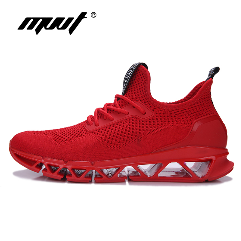 2018 Summer Men Running Shoes Fly Weave Breathable Men Sneakers Bounce Mesh Summer Shoes ForMotion Athletic